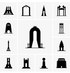 Monuments vector