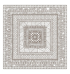 Original drawing tribal doddle rectangle vector