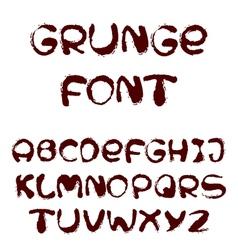 English alphabet in grunge style vector