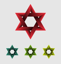 The star of david abstract design element vector