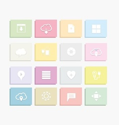 Flat web icons vector
