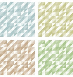 Set of geometric retro patterns vector