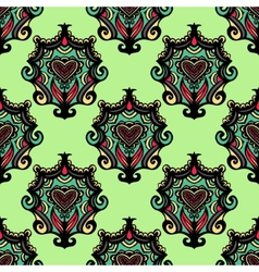 Oriental damask vintage seamless abstract vector