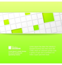 Tile banner over green backdrop vector