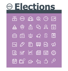 Elections icon set vector