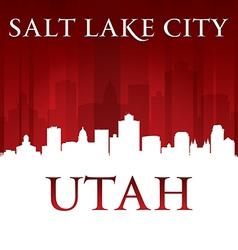 Salt lake city utah skyline silhouette vector