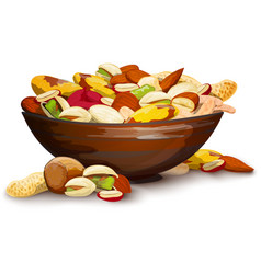 Cup with nuts vector