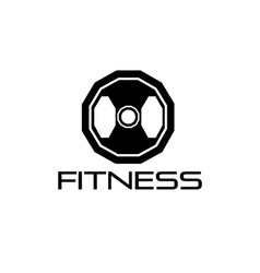 Fitness weight design template vector