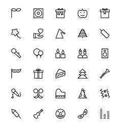 Celebration line icons 4 vector