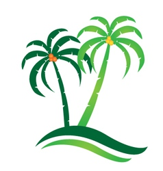 Tropical island logo vector