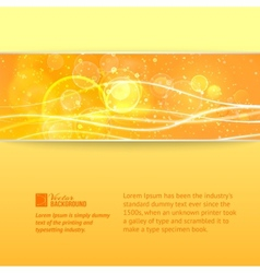 Abstract nature banner vector