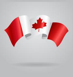 Canadian waving flag vector