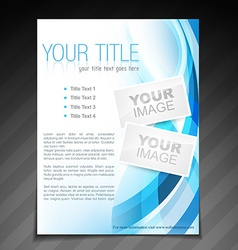 Stylish brochure flyer poster template design vector