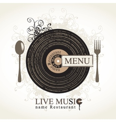 Musical cafe vector