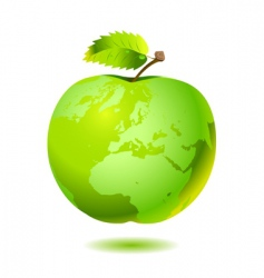 Apple earth vector