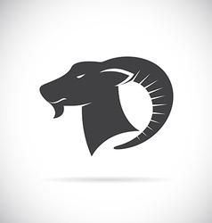 Image of an goats head vector