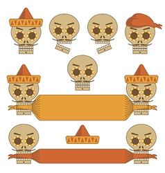 Mexican skulls vector