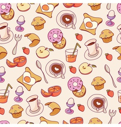 Breakfast pattern vector