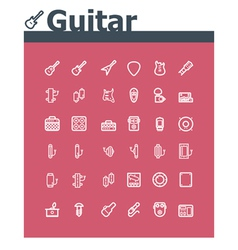 Guitar icon set vector
