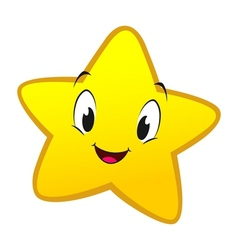 Cartoon little star vector
