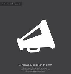 Speaker premium icon white on dark background vector