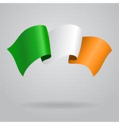 Irish waving flag vector