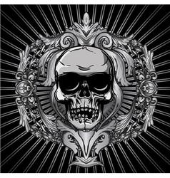 Vintage design with skull vector