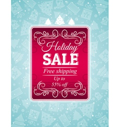 Christmas background and label with sale offer vector