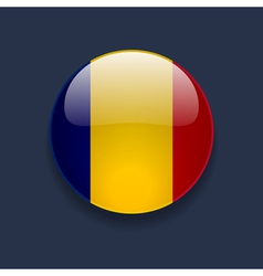 Round icon with flag of romania vector