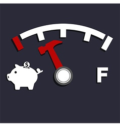 Oil empty pig bank vector