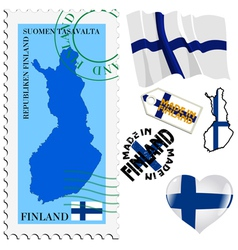 National colours of finland vector