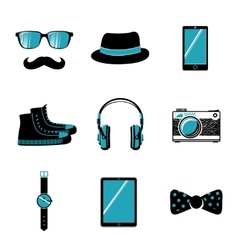 Hipster items collection vector