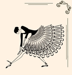 Image of ballet girl vector
