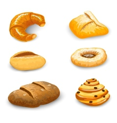 Bakery set isolated vector