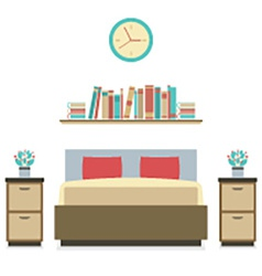 Modern flat design bedroom vector