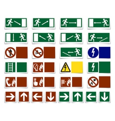 Warning symbols vector