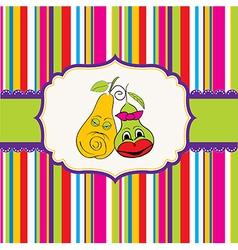 Pears in love vector