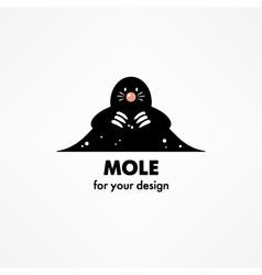Cute cartoon mole vector