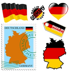 National colours of germany vector