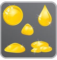 Oil or honey drops set vector