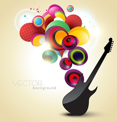 Artistic guitar vector