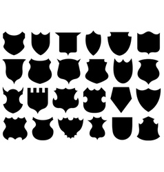 Set of different shields vector