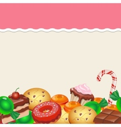 Seamless pattern colorful sticker candy sweets vector