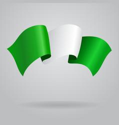 Nigerian waving flag vector