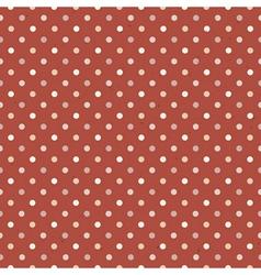 Seamless vintage polka dot vector