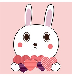Bunny heart vector