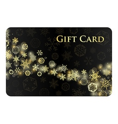 Exclusive black christmas gift card with stream of vector