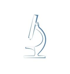 Microscope icon vector