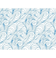 Seamless wave background of drawn lines vector