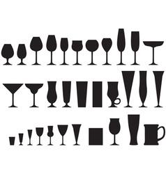 Glass goblets vector